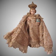 Old Infant of Prague statue Brocade Robes