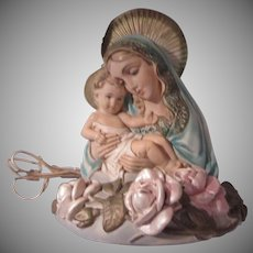 Virgin Mary Infant Jesus Madonna Child Lighted Statue