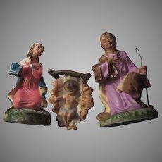 Holy Family 3 Pc Nativity Set Figurines Virgin Mary St Jospeh Infant Jesus