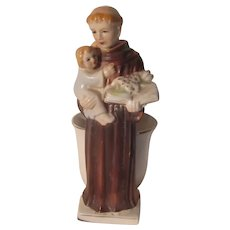 St Anthony Infant Jesus Statue Figurine Holy Water Vase