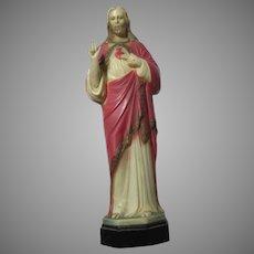 Jesus Sacred Heart Statue Figurine Rosary Case