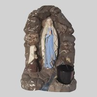 Virgin Mary Our Lady Lourdes St Bernadette Grotto Statue