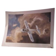 Tony Couch First Flight T 37 Artists Proof Signed Watercolor Print