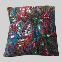 Paisley Sequin Pillow