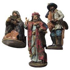 Clothtique Set Kings Wise Men Nativity Christmas Figurines Statues