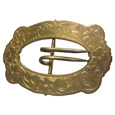 Victorian Large Buckle Design Pin Brooch
