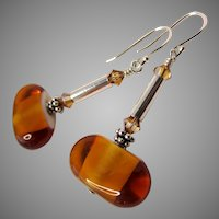 Handcrafted Lampwork Dangle Earrings