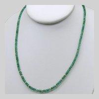 Natural Zambian Emerald 14k Yellow Gold Necklace