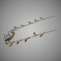 Vermeil Silver Druzy Pendant 14kt GF Necklace