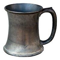 Rare 1902 Pewter Wrestling Trophy Mug
