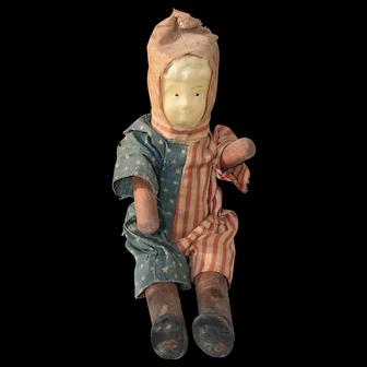 Boy Doll in Original Patriotic Clothes