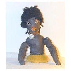 Early Folk Art Black Half-doll Pincushion - Rare!  Free shipping