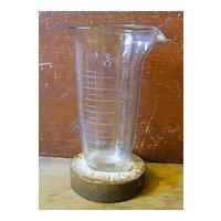 Rare Antique Make-Do - Pharmaceutical Glass Beaker - Advertising!