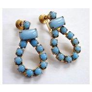 Beautiful Blue Vintage Loop Earrings