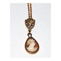 Vintage Cameo Necklace - Delicate and Sweet