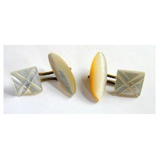 Vintage Cufflinks - Mother of Pearl - Two Styles