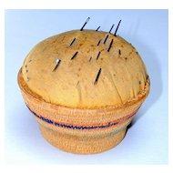 Vintage Native American Basket Pin Cushion