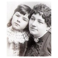 Mother and Daughter - Cameo - 19th Century Cabinet Card