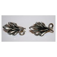 Sterling Silver Vintage Flower Earrings