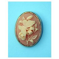Trifari Pin - Detailed Butterfly on Lily