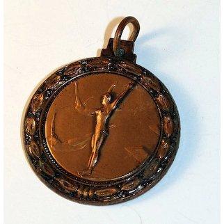 Vintage Women's Diving Medal