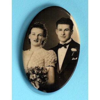 1920s Photographic Mirror – Newlyweds