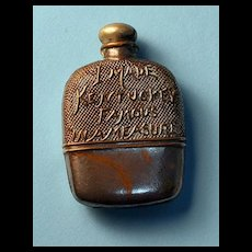 Antique Figural Tape Measure – Rare Whiskey Flask, c. 1900-1920