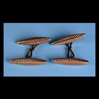 1920s Torpedo Swirl Cuff Links
