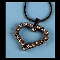 Vintage Rhinestone Sweetheart Heart Necklace
