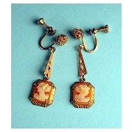 Vintage Delicate Cameo Earrings