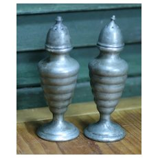 Wonderful Vintage Pewter Salt and Pepper – Beehive Style
