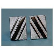 Vintage Fifties Silvertoned Cuff Links