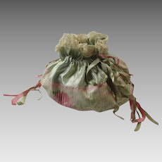 1920s Lingerie Bag Boudoir Pouch Silk Satin Ribbons