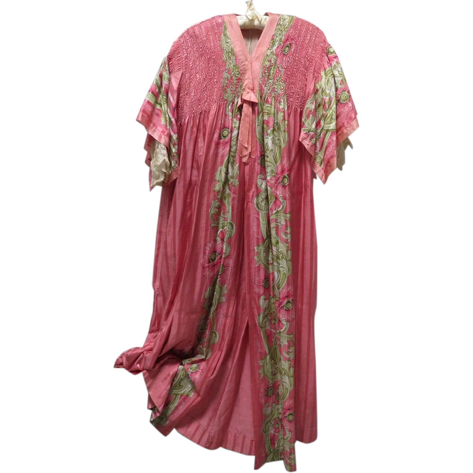 e17488b0804 1920s Peignoir Dressing Gown Robe Silk and Lace   Maiden Memories ...
