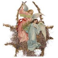 Hark The Hearld Angels Sing Victorian Ephemera Tinsel Garland Large