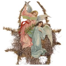 Hark The Hearld Angels Sing Victorian Ephemera Tinsel Garland Large