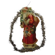 Antique Christmas Tinsel Garland Ephemera Santa Decoration