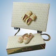 Compact Carry All Minaudiere  Purse And Cigarette Case Set