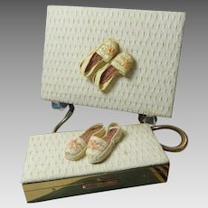 Minaudiere Carry All Compact Purse And Cigarette Case Set