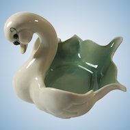 Kay Finch of California Largest Swan Flower Bowl Circa 1940s