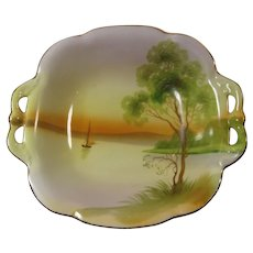 Hand Painted Nippon Two Handled Bowl