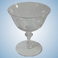 Fostoria Etched Bowl Clear Champagne Sherbet 6oz