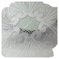 Doilies Set of Five Beautiful Crocheted Square Graduated Sizes