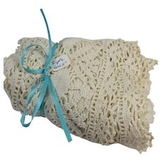 Lace Yardage Hand Crocheted 67 Inches Long