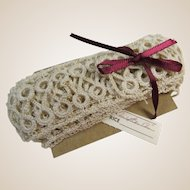 Tatted Insert Lace Yardage Hand Made 84 Inches Long