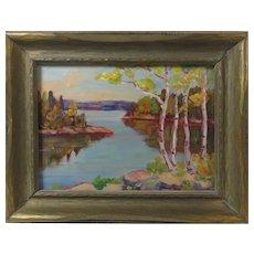 Oil on Board Miniature Canadian Artist Marguerite Boyce
