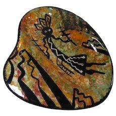 Apache Mana Pottery Cigar Bowl Spirit Dancer