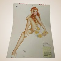Vargas 1944 Esquire Complete Pin Up Calendar