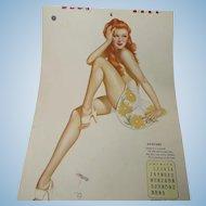 Vargas 1944 Esquire Complete Calendar