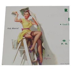 Pinup Art 1954 Advertising Ink Blotter